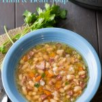 Instant Pot Ham and Bean Soup Recipe in Pressure Cooker or Slow Cooker