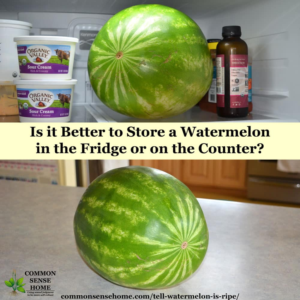 How to Store Watermelon