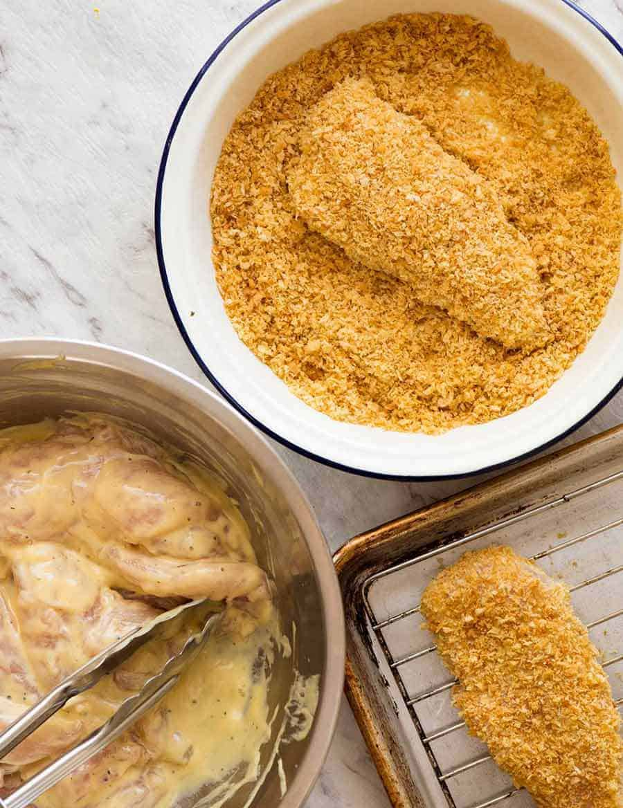 How to make crunchy Baked Breaded Chicken