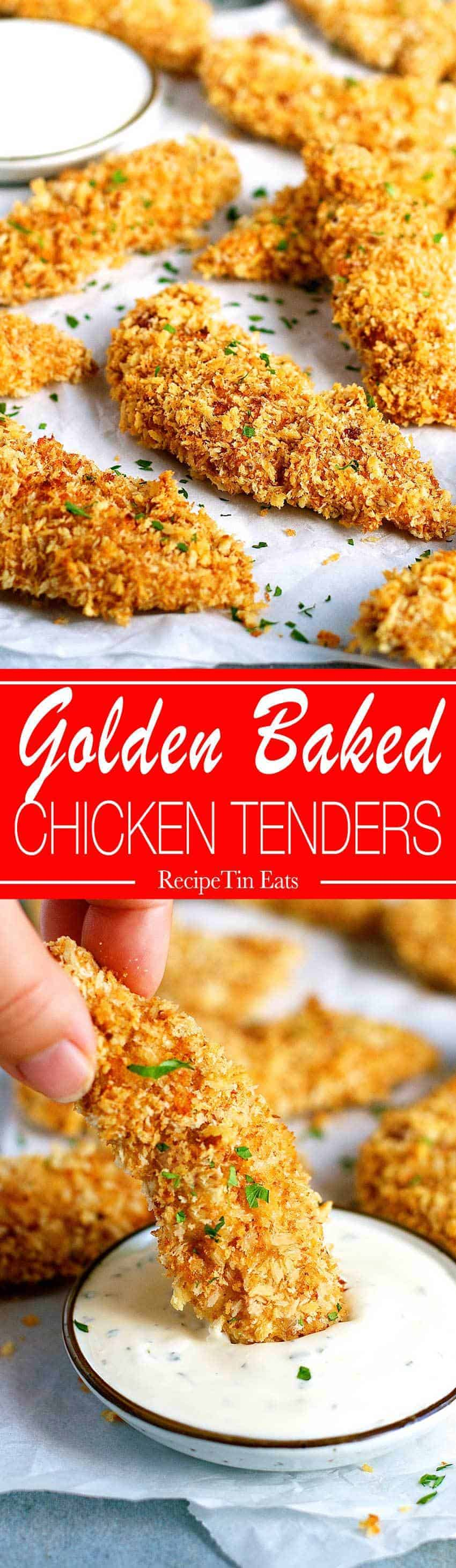 Crunchy Baked Breaded Chicken Tenders